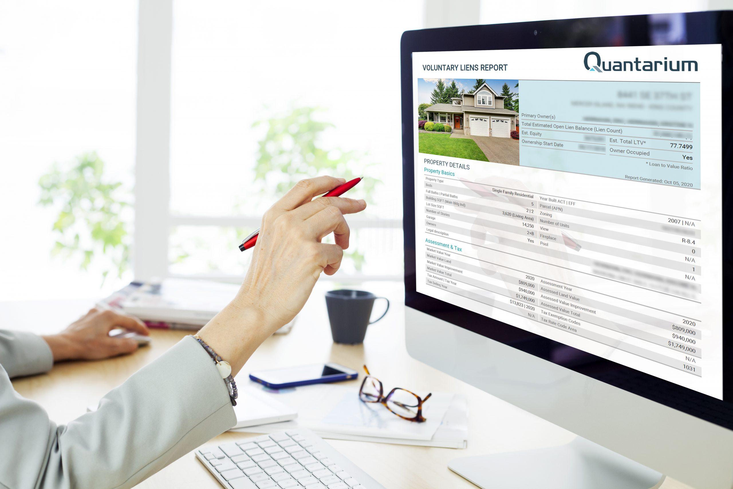 Quantarium Data and Search Platform Voluntary Liens Report
